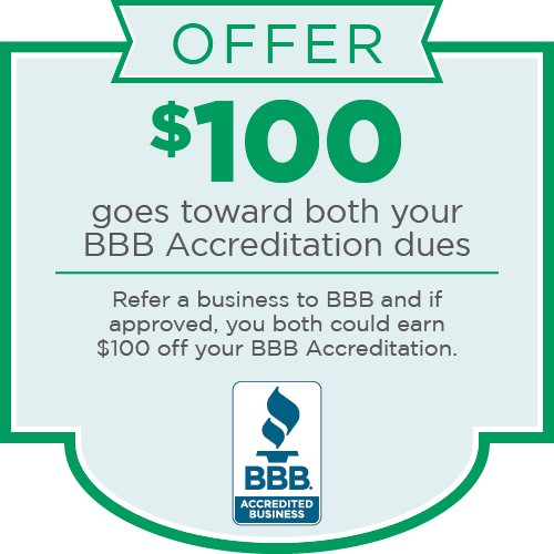 BBB Northwest + Pacific Referral Offer for BBB Accreditation